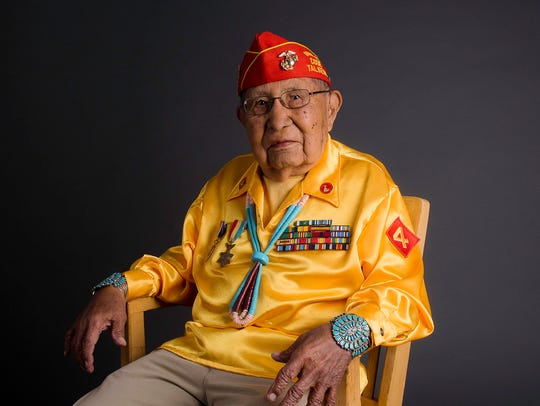 Navajo Code Talker David E. Patterson died on Sunday