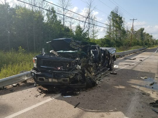 A vehicle was heavily damaged in a June 30 crash on Port Washington Road at Pioneer Road  in Grafton. Five vehicles sustained major damage, including one rollover off the roadway and one that left an injured person trapped.