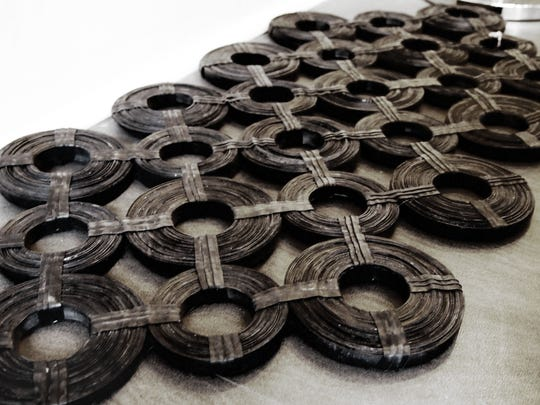 Inner tubes that are manipulated into clever recycled