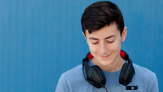 Teens playing loud music