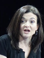 Facebook chief operating officer Sheryl Sandberg speaks