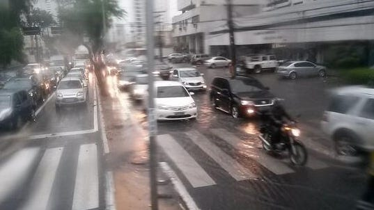 Heavy rain led to flooding in Recife, Brazil, before Thursday's soccer game between the USA and Brazil.