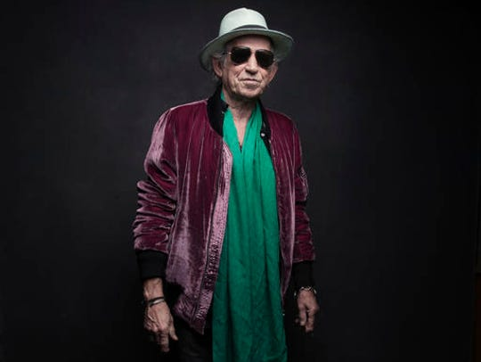 Keith Richards of the Rolling Stones poses for a portrait