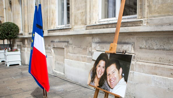A memorial ceremony in Paris on June 15, 2016, for