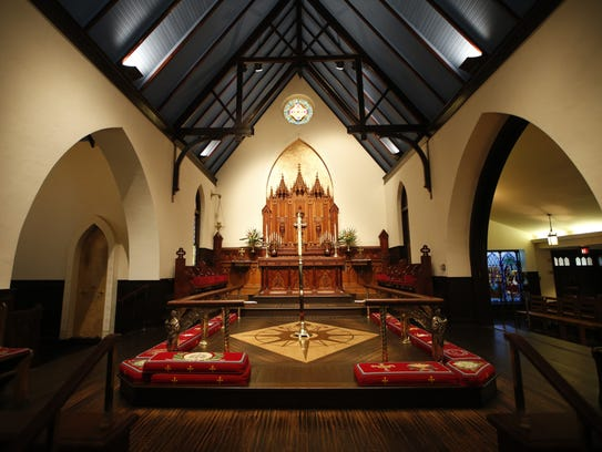The altar inside of St. John's Episcopal Church downtown