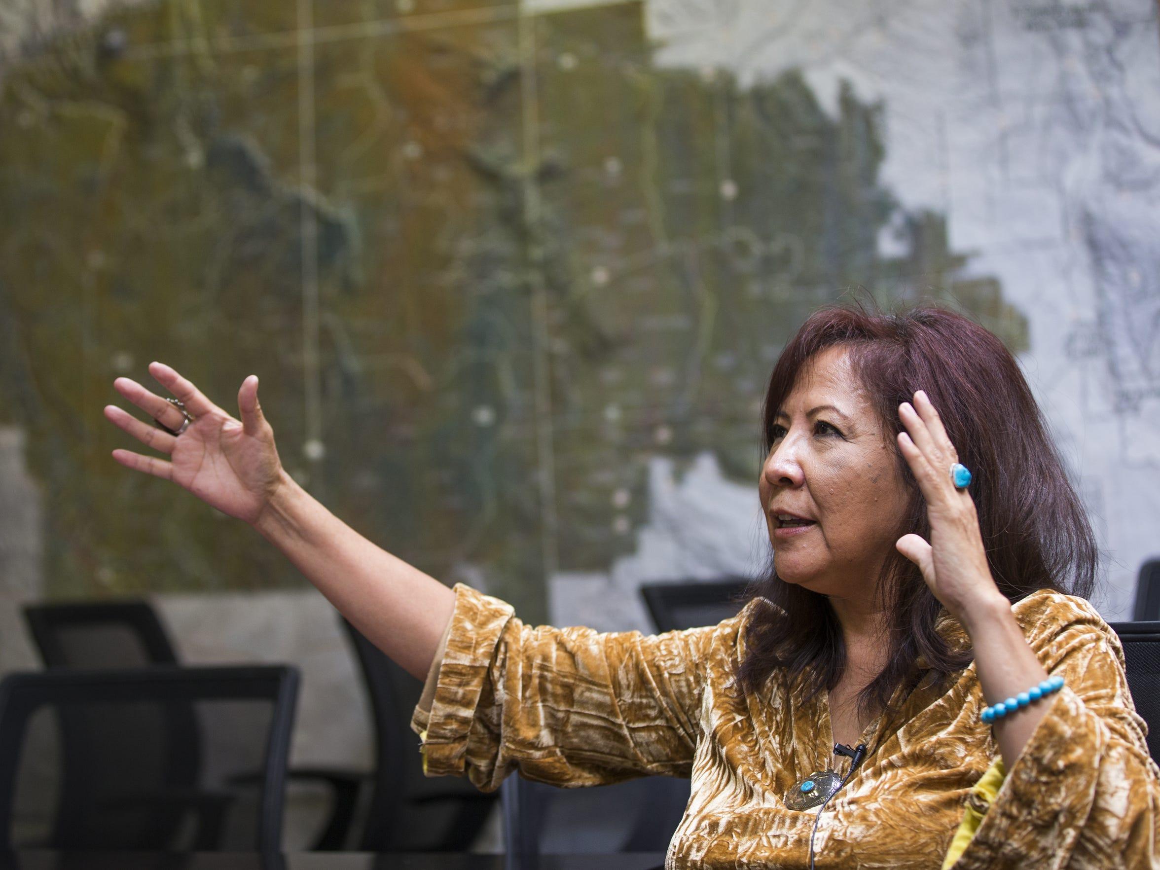 Aneva Yazzie, chief executive of the Navajo Housing Authority.