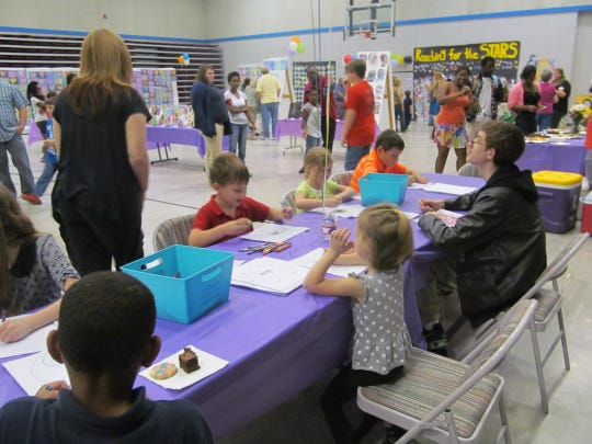 About 200 students, family members and fans attended a two-hour schoolwide art show at Northwood High School in Lena on Tuesday, art teacher Amy Milliner said.