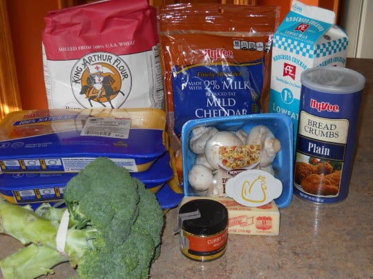All the fixings for Chicken Broccoli Bake.