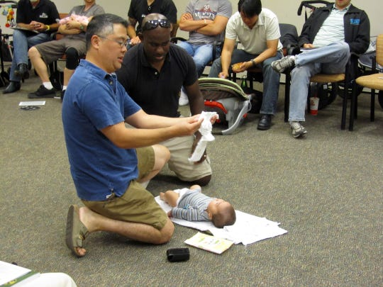 """Boot Camp for New Dads"" is coming to Mansfield. The"