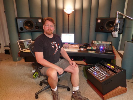 Stuart Martin, Class of 1984 valedictorian at Fort Defiance H.S., has gone from earning a degree in anthropology, to being a musician in his band, Wolves of Azure, to becoming a respected producer.