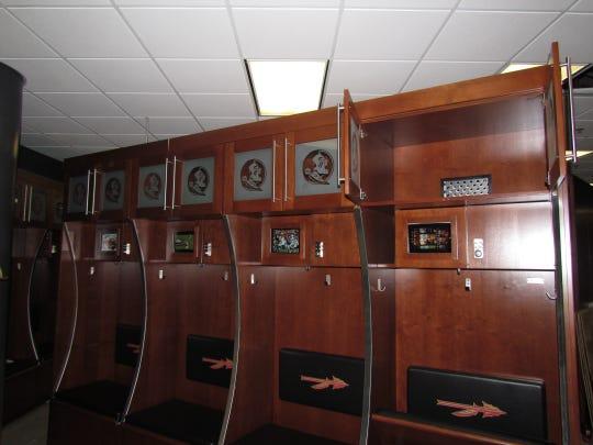 Florida State's new football lockers.