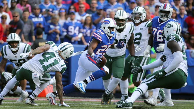 Bills running back LeSean McCoy led all rushers with 110 yards.  He also had 5 catches in a 21-12 win over the Jets.