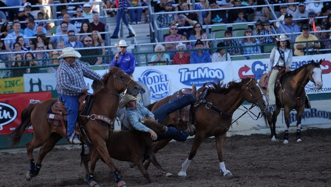 The Reno Rodeo on Nevada Wolf Pack Night on June 22, 2016.