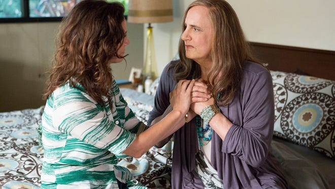 """Jeffrey Tambor (right) and Amy Landecker star in """"Transparent,"""" which is available on Amazon Prime starting Friday."""