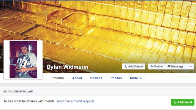 Dylan Widmann's Facebook page. Widmann was found dead of a gunshot wound in Sioux Falls on Sunday.