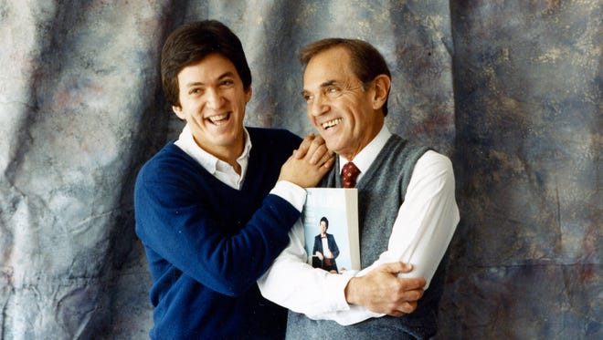 Mitch Albom, American best-selling author, journalist and screenwriter with his father Ira Albom in 1988.