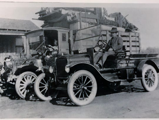 Jack and Jeff Transfer Co. has been around for 100 years.  In 1922 they swapped their horses for four wheels.