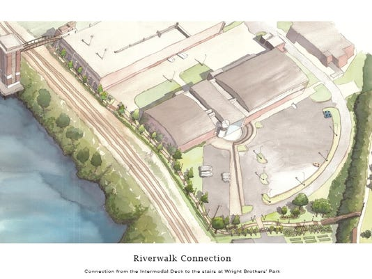 Riverwalk connector rendering