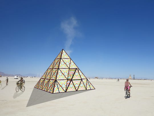 Bay Area artist Dicapria is bringing a gummy bear pyramid to Burning Man 2017.