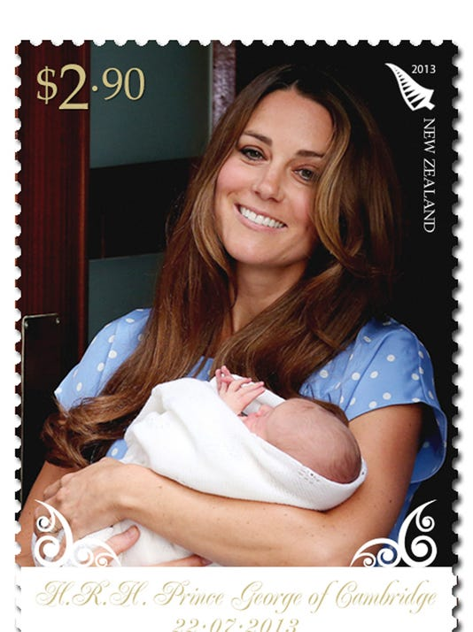 Kate and George stamp