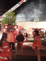 A 54-year-old firefighter died while fighting a fire at the Hydrair building on Union Avenue in Union Beach, Sunday.