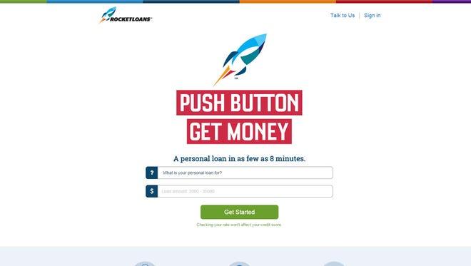 RocketLoans web site screen grab.