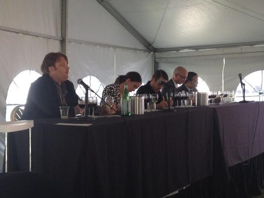 Sommeliers making their guesses in the Somm Smackdown