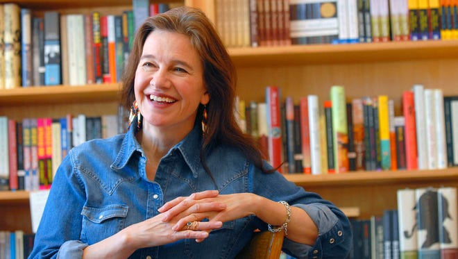 """Author Louise Erdrich is seen at her store BirchBark Books in Minneapolis. Her novels include the new """"Future Home of the Living God."""""""