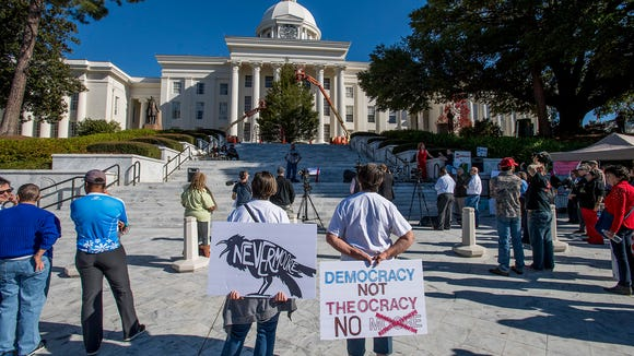 The Never Moore Anti Roy Moore Rally at the state capitol