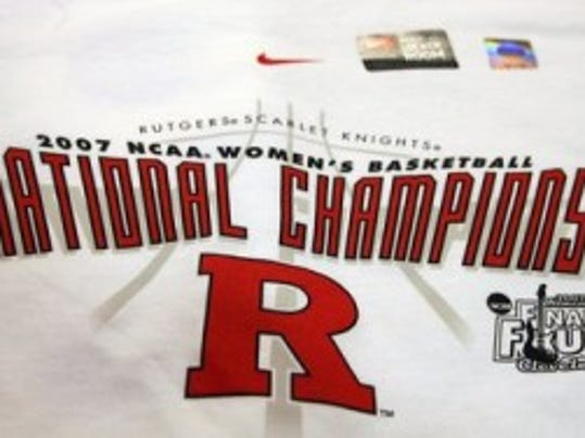 It could be a long time before a Rutgers team earns the right to wear this kind of T-shirt judging by the school's recent standing in the Directors' Cup rankings. (MyCentralJersey.com file photo)