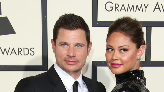 TV personalities Nick Lachey and Vanessa Lachey attend the 58th GRAMMY Awards at Staples Center on Feb. 15, 2016 in Los Angeles.