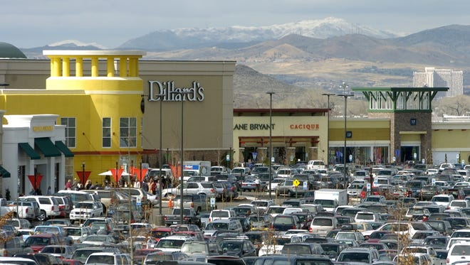The parking lot was almost full at the Summit Sierra shopping center as it opened for business on March 15, 2006.