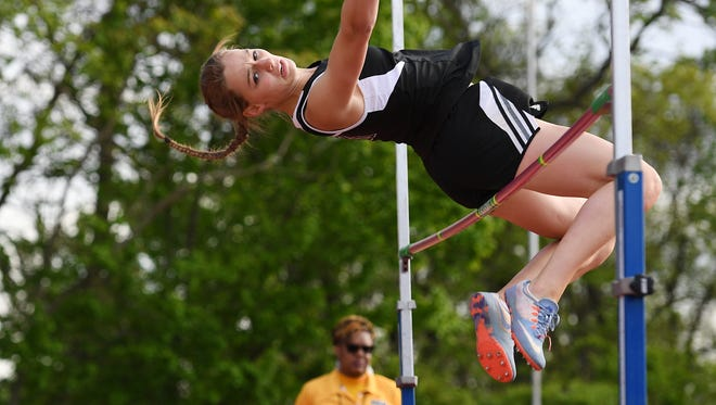 Kalleen Rose Ozanic of West Milford left her mark at the Big North Independence meet at the Armory Track Center in New York on Feb. 6. She  won the high jump, long jump and triple jump and scored 38 of a possible 40 points.