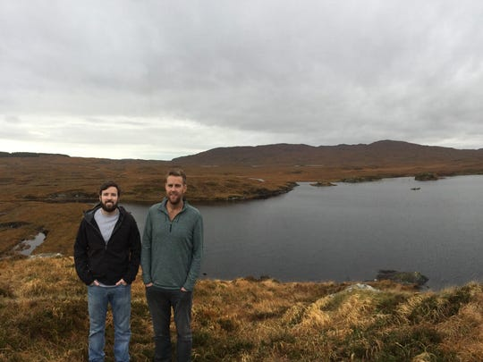 Taylor Force, left, and Jamie Southwick in County Clare,