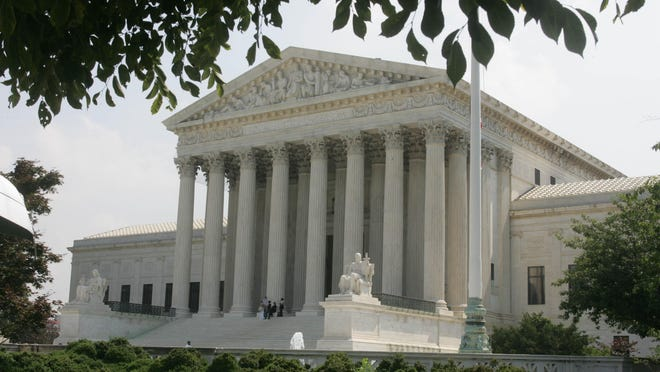 The U.S. Supreme Court building, photographed in June 2004.