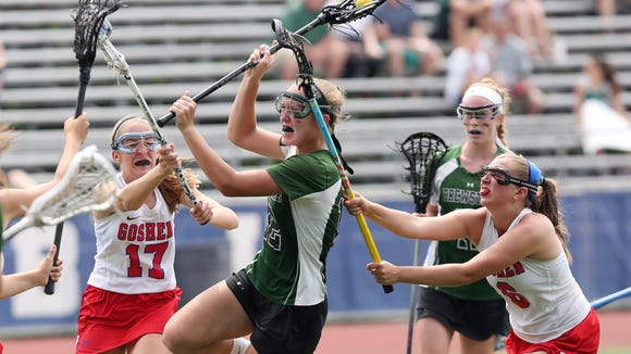Brewster's Meagan Beal (12) scores a second-half goal