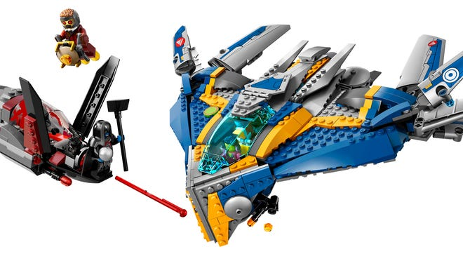 """Star-Lord, Drax, Gamora and their ship Milano star in one of three LEGO sets based on the upcoming """"Guardians of the Galaxy"""" movie."""