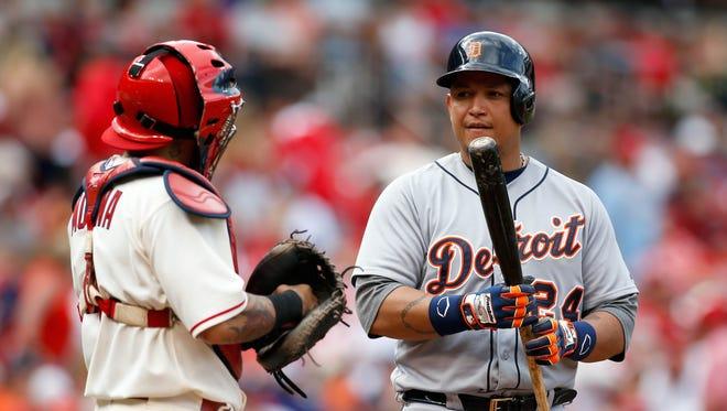 May 16, 2015; Detroit Tigers first baseman Miguel Cabrera.