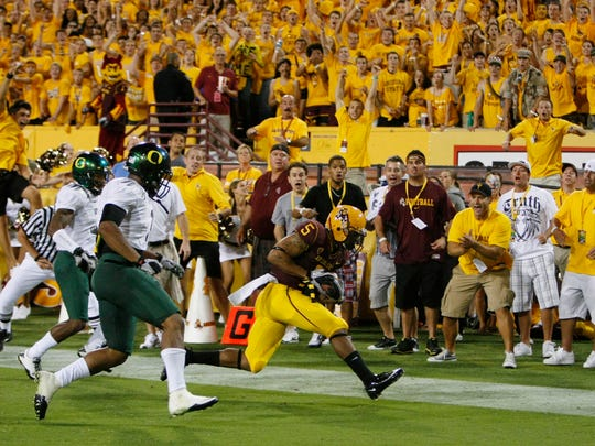 Arizona State's Kerry Taylor scores a touchdown against