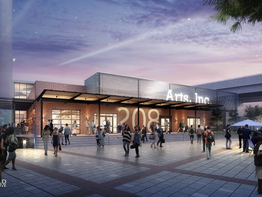 Early draft of performing-arts center in Tallahassee.