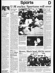 BC Sports History: Week of Nov. 26, 1995