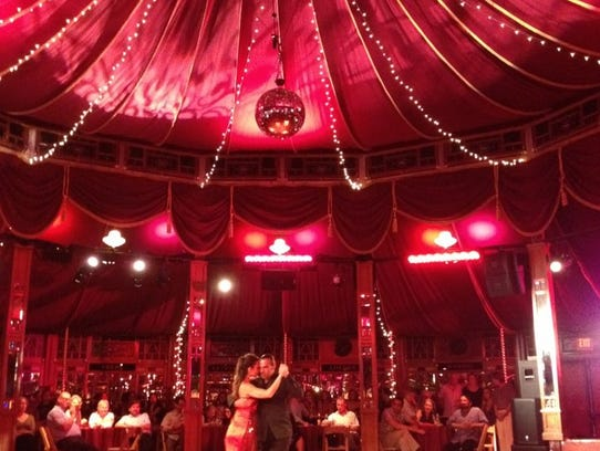 The Spiegeltent hosts a range of events during Bard