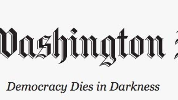 "The Washington Post has adopted a new slogan, ""Democracy"