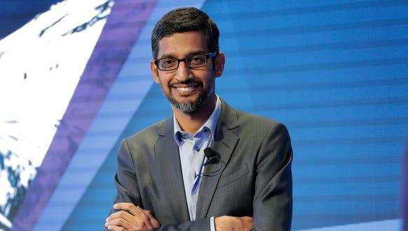 Google CEO Sundar Pichai in Davos, Switzerland, on