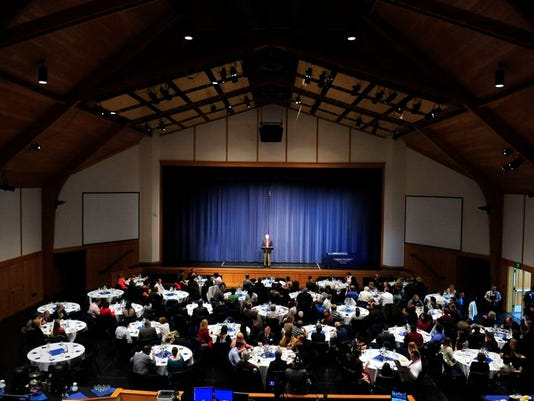 Students, parents and supporters attend the Academic All-Stars ceremony Sunday at Corban University in Salem. Thirty-six Mid-Valley students were honored