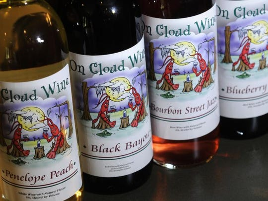 On Cloud Wine opened in 2009, with just four varieties from which to choose. Now,the list has grown extensively to include unique flavors like Creole Beach Party and BlueBerry Moon.