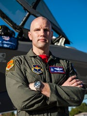 Air Force pilot Maj. William Andreotta, an Arizona State University graduate, will make his debut with the Heritage Flight team behind the stick of an F-35A fighter jet this weekend at Luke's air show.