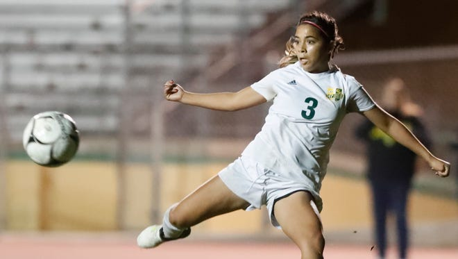 Coachella Valley High School's Mariah Godinez during her game against Desert Hot Springs in Thermal on January 12, 2018.