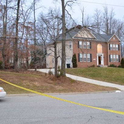 Three men were shot in Clinton, Md. Sunday afternoon,