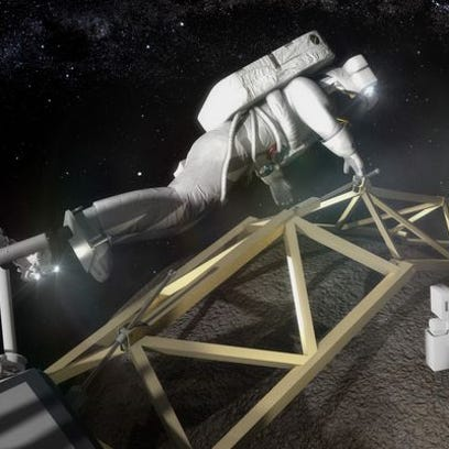 This is a mockup of what NASA images astronaut work